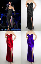 Evening Formal Prom Gown Party Bridesmaid Sequin Full Dresses Sexy Performance