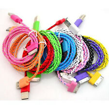 Cute 8Color Braided Material USB Data&Sync Charger Cable For IPhone4 4S IPad2 3