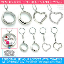Living Memory Locket Pendant Charms Necklace Costume Jewellery Floating Charm