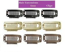 Hair Extension Snap Clips Weft Wig Grips Medium Remy Hair Clip In 23mm 28mm 32mm