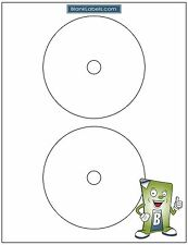 CD / DVD Labels Full Face Avery Compatible Laser Ink Jet Blank White Sheets 5931