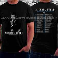 new MICHAEL BUBLE WORLD TOUR DATES  2014  Short Sleeve tee T-SHIRT SIZE#S-2XL