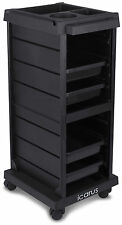"""Cosmo"" Black Beauty Salon Rolling Trolley Cart W/ Trays"