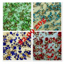MIXED Sizes Various Color Point back Rhinestone Crystal Glass Chatons Strass 20g