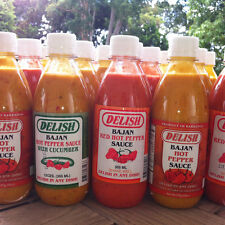 2x Delish Pepper Sauce Barbados Choice Red Hot Cucumber