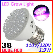 HOT E27 38LED 1.9W Red Blue Plant Grow Light Bulb Garden Indoor Hydroponic Lamp