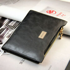 Female leather bifold With Zipper wallet credit cards holder slim purse  Luxury