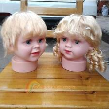 Children Manikin Head Hats Wig Mould Show Stand Model Mannequins R1BO