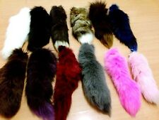 Different Colors Of Fox Tail Keychain Fur Tassel Bag Tag Charm