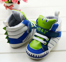 Infant Toddler Baby Boy High Top Crib Shoes Sneakers Newborn to 12 Months