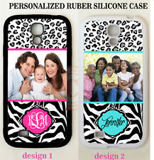 PERSONALIZED CUSTOM IMAGE PHOTO LEOPARD ZEBRA CASE For Samsung Galaxy S4 S3 S5