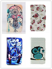 Stylish Animal Flip Folio Leather Skin Wallet Case Cover For Many Mobile Phone