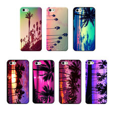 Purple California Tropical Palm Trees Style On Hard Case For iPhone 4 4S 5 5S 5C