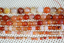 "Agate Loose Gemstone Round Beads 4mm 6mm 8mm 10mm 12mm 14mm 14.5"" Strand"