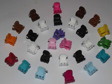 x12 Assorted Mini Small (cauotchouc) Hair Clips Claws Clamps Hair Accessories