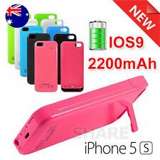 Hot for Apple iPhone 5 5S External 2200mAh Charger Battery Backup Power Case