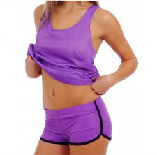Mesh Running Shorts Ladies Woman Athletic Sports Workout Mesh Sexy Short PURPLE