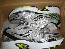 New Mens Saucony Oasis Running Shoes 25096-8 Silver/Black/Green