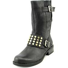 Jessica Simpson Skylare Womens Black Leather Fashion Mid-Calf Boots