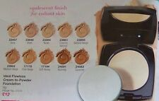 AVON Ideal Flawless Invisible Coverage cream to powder Foundation all shades (Y)