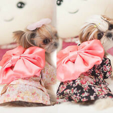 Pet Dog Clothes Puppy Floral Japanese Kimono Clothing Costume Princess Dress