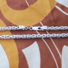 Solid Sterling Silver Byzantine Chain (variety of width and length available)