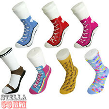 Silly Socks Novelty Cotton Converse Trainers Sneakers Sock Funny Present Gift