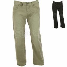 New Mens ex Marks & Spencer North Coast 100% Cotton Casual Trousers Jeans Grey
