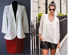 ex- NEXT Blazer - Next Lace Geo Cream Blazer Jacket