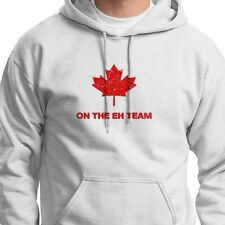 The EH TEAM Funny Canadian Hockey T-shirt jersey Maple Leaf Hoodie Sweatshirt