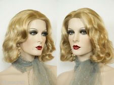 Jean Harlow Medium Wavy Blonde Brunette Red Skin Top Wigs