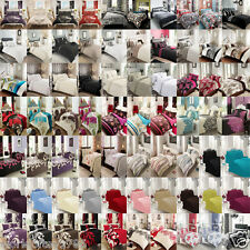 Duvet Cover Set With Pillow Cases Quilt/Cover Bed Linen Set Single Double King
