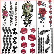 Temporary Tattoo sticker ladies lip Party rose sexy lace love Buy 2 get 1 FREE