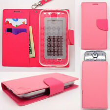 IDENTITY Petal Pink Universal Wallet Phone Case Pouch Flip Cover For Samsung LRG