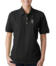 BOWLER Embroidery Embroidered Lady Woman Polo Shirt