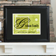 """Family Name Sign Personalized Custom Print Wedding Gift 23x19"""""""