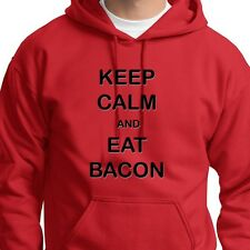 KEEP CALM and EAT BACON Pork Fat T-shirt Funny Food Party Hoodie Sweatshirt