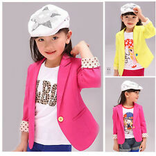 New Girls Korean Blazer Suits Dot Slim fit Style Kids Clothing Age 2 3 4 5 6 7 Y
