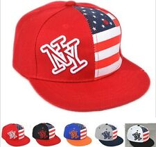 Kid Children Boys Girls Sun Hat Baseball Adjustable Cap NY American Flag CCAP190