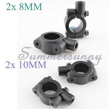 8mm UNIVERSAL 10mm CLAMP ON MOUNT MIRRORS ADAPTER FOR HANDLEBAR END SPORT BIKE