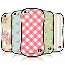 HEAD CASE DESIGNS FRENCH COUNTRY PATTERNS HYBRID TPU CASE FOR APPLE iPHONE 5