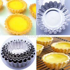Egg Tart Aluminum Cupcake Cake Cookie Custard Mold Lined Mould Tin Baking Tools