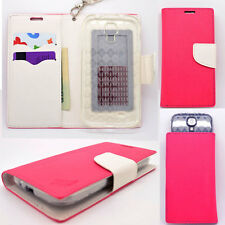 IDENTITY Pink Lotus Universal Wallet Phone Case Pouch Flip Cover For Samsung SM