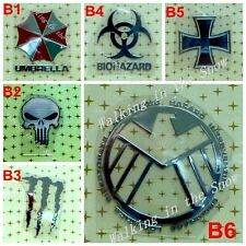 SHIELD UMBRELLA BIOHAZARD CROSS PUNISHER Silver Metal for Cell phone PC Pad MP3