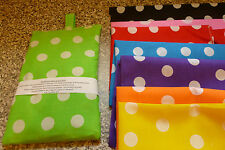 """HANDMADE SPOTTY  WHEAT BAGS / CHILL PACKS- 6"""" X 10"""" - WITH OR WITHOUT LAVENDER"""