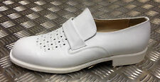 German Military White Leather Officers Ceremonial Sailors Shoes. All Sizes - NEW