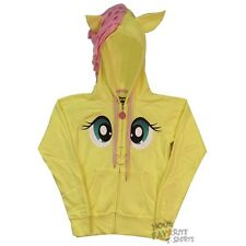 My Little Pony Fluttershy Face With Wings MLP Licensed Junior Zip Up Hoodie