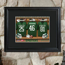 College NCAA Football Locker Room Fan Personalized Custom Print Framed 23x19