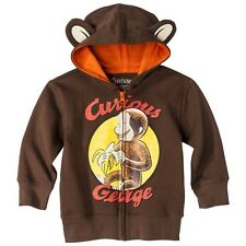 New! CURIOUS GEORGE Hoodie Jacket Sizes: 2T/3T and 4T/5T