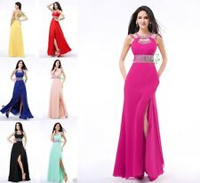Long Halter Formal Ball Cocktail Prom Dress Party Dresses Evening Gowns in Stock